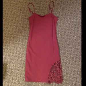 Forever 21 dark pink lace dress
